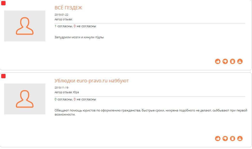 euro-pravo.ru отзывы клиентов на сайте corpindex.ru
