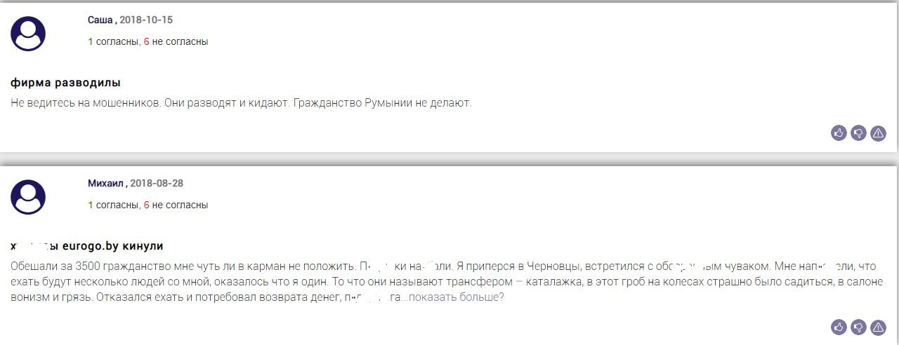 eurogo отзывы на сайте bizlst.com