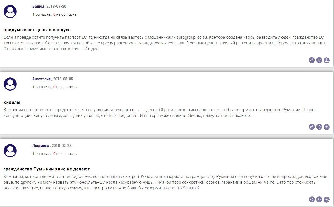 eurogroup-ec.eu отзывы клиентов а сайте bizlst.com